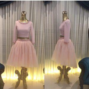 نیم تنه دامن دخترانه صورتی / لباس عروسکی